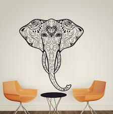 elephant wall decal ganesha tattoo om mandala wall decal zoom