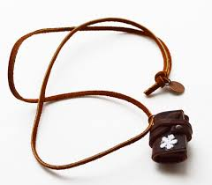 diy leather necklace images Maize hutton little leather journal necklace diy jpg
