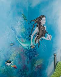 kids rooms amy colburn underwater themed oceanic mural featuring a