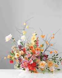 How To Make Floral Arrangements How To Make Paper And Fabric Flowers For Your Wedding Martha