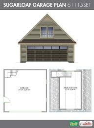 Car Garage Ideas by Two Car Garage With Attic Plan 480 2a 20 U0027 X 24 U0027 By Behm Design
