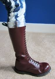 used womens boots size 9 dr marten like solovair 20 boots cherry used size 9