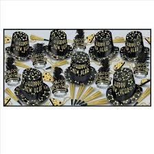 Black And Gold New Years Eve Decorations gold new years eve party kit for 50