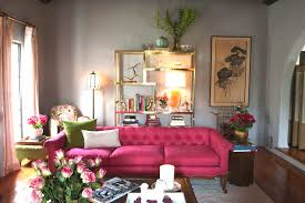 Pink Living Room Ideas Hot Pink Curtains Design Ideas