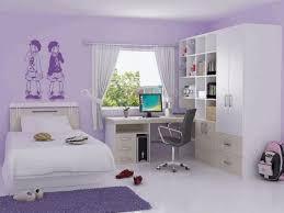 Twin Wall Bed Girls Room Decor Opened Horizontal Murphy Bed Desk Cream Fabric