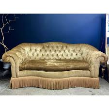 tufted velvet chesterfield sofa with fringe by century furniture