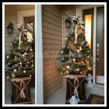 Outdoor Christmas Decorations Home Depot Rustic Christmas Tree Display Hello I Live Here
