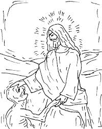 jesus heals ten lepers coloring page kids coloring