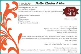 printable shot recipes legacy recipe festive chicken and rice free printable a legacy
