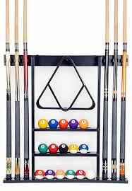 pool table wall rack amazon com cue rack only 6 pool cue billiard stick wall rack