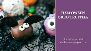 5 ingredient halloween oreo balls youtube