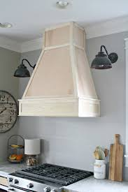 Kitchen Range Hood Designs A Diy Ish Wood Vent Hood From Thrifty Decor