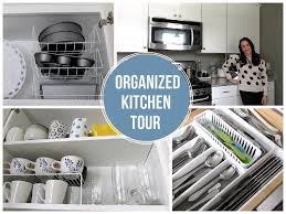 Organize My Kitchen Cabinets Organized Kitchen Tour On A Budget Favorite Organized Space