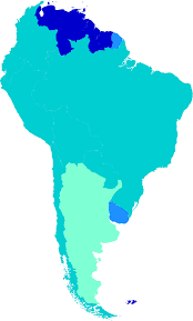 Countries Of South America Map Ages Of Consent In South America Wikipedia