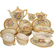 children s dishes lustre tea set complete 27 set with