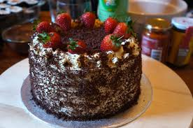 orange chiffon cake with strawberry and lychee cream layers recipe
