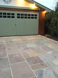 patio slabs autumn brown indian sandstone paving ideas amazing
