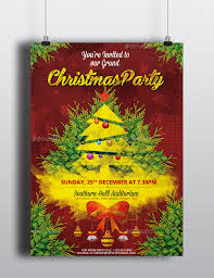 christmas party invitation flyer poster psd flyer template by