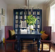 bookshelves in dining room navy blue bookcase with glass door for backdrop dining room ideas