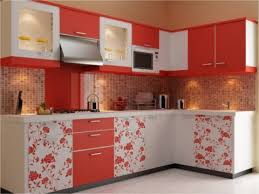 Beautiful Kitchen Designs For Small Kitchens L Shaped Small Kitchen Design With Beautiful Flower On