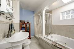 White And Beige Bathrooms Clean Beige And White Bathroom Stock Photo Image 79656690