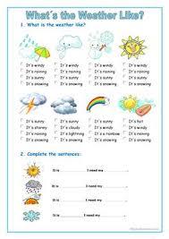 439 free esl weather worksheets