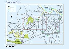 map central central sheffield map maps and travel advice visitors the