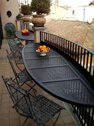 tavolino da terrazzo allestimento balcone