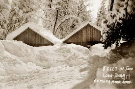 Mr Barn 8 Feet Of Snow Long Barn Tuolumne County 1930 Photograph By