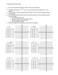 exponential graphs worksheet worksheets