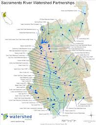 Usa Map With Rivers by Sacramento River Basin Sacramento River Watershed Program