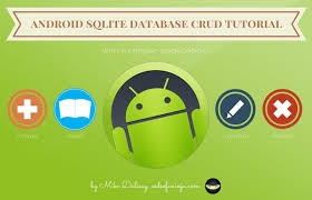 android database android crud tutorial with exle application