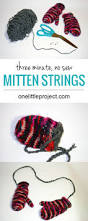 how to make quick 3 minute no sew mitten strings