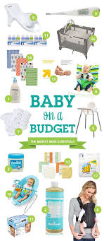 baby necessities a list of budget bare essentials needed for babies bare