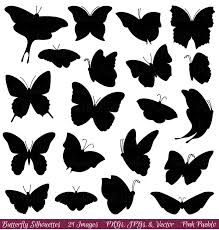 butterfly silhouette clip 16059