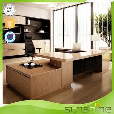 New Design Mdf Luxury Wood Table Modular Office Furniture Modern - Luxury office furniture