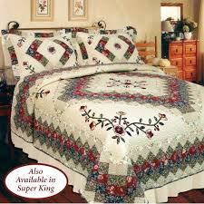 bedroom quilts and curtains victorian treasures floral patchwork quilt bedding