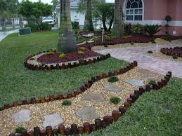 landscaping idea for small backyard with lawn and sand garden plus