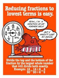 reducing fractions greatest common factor gcf notes