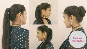Hairstyles Easy And Quick by 2 Quick And Easy Summer Hairstyles High Ponytails With Bun For