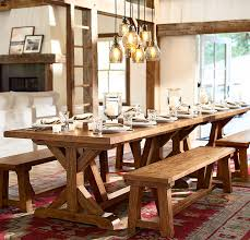 pottery barn farm dining table rustic lodge media room photo gallery design studio pottery barn