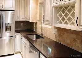 Cream Cabinets With Back Splashes Brown Countertop Cream Cabinet - Kitchen backsplash ideas with cream cabinets