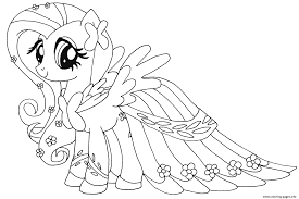 fluttershy my little pony coloring pages printable