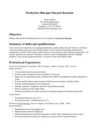 Inventory Management Resume Sample by Amazing Production Manager Resume 4 Production Manager Resume