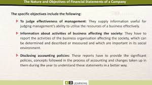 statement of purpose and objectives dc 01 nature and objectives of financial statement youtube dc 01 nature and objectives of financial statement