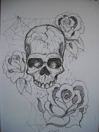 skull roses and cobwebs by asatorarise on deviantart