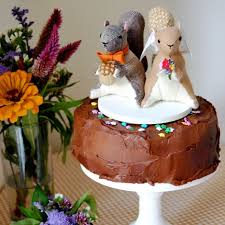 squirrel cake topper wedding toppers by sian keegan weddings wedding