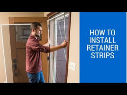 storm door with screen and glass how to install the retainer strips on your storm door youtube