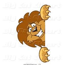 big smiling cat cartoon vector clipart of a lion character mascot
