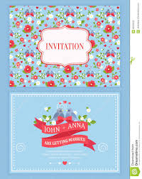 Marriage Wedding Invitation Cards Cute Wedding Invitation Card With Floral Pattern Stock Vector